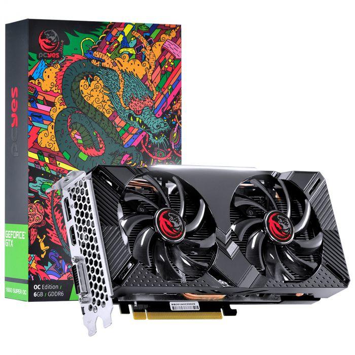 Placa de Vídeo Nvidia Geforce GTX 1660 SUPER OC 6GB GDDR6 - 192 Bits PCYES -  GRAFFITI SERIES- PPSOC16601926G6