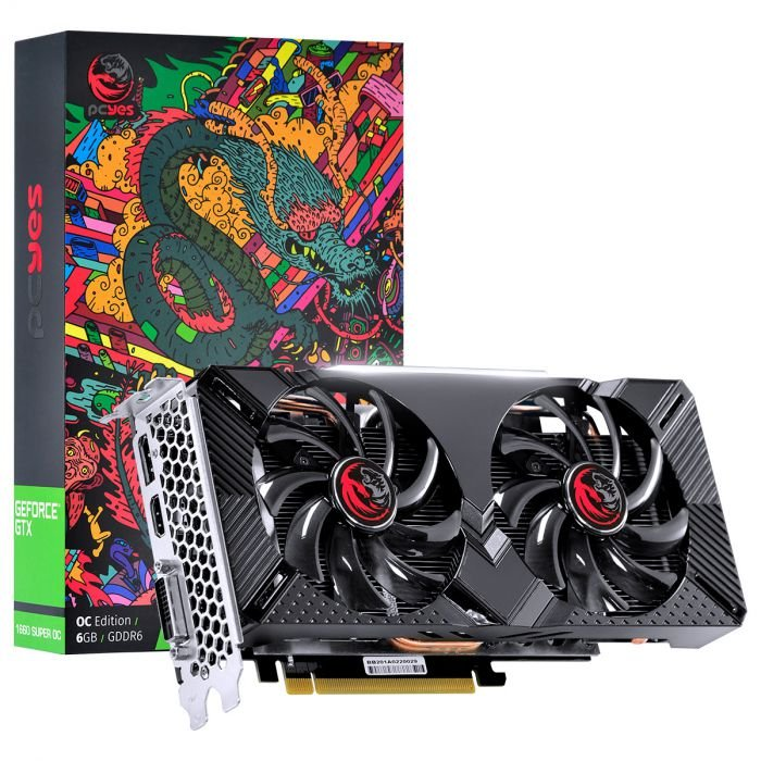 Placa de Vídeo Nvidia Geforce GTX 1660 OC 6GB GDDR5 192 Bits PCYES - GRAFFITI SERIES - PPOC166019206G5