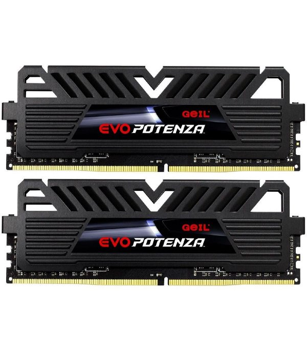 Memória Ram P/ Desktop 8GB DDR4 CL16 3000 Mhz (2X4GB) GEIL EVO POTENZA BLACK - GAPB48GB3000C16ADC