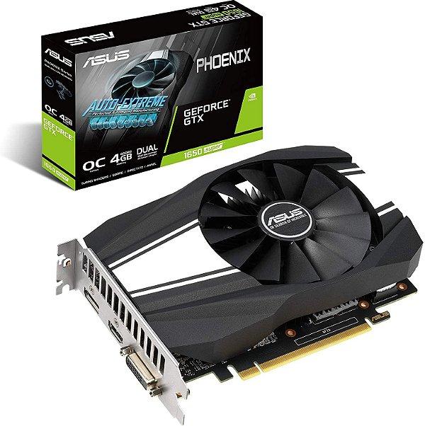 Placa de Vídeo GPU GEFORCE GTX 1650 SUPER 4GB GDDR6 - 128 BITS ASUS PHOENIX - PH-GTX1650S-O4G