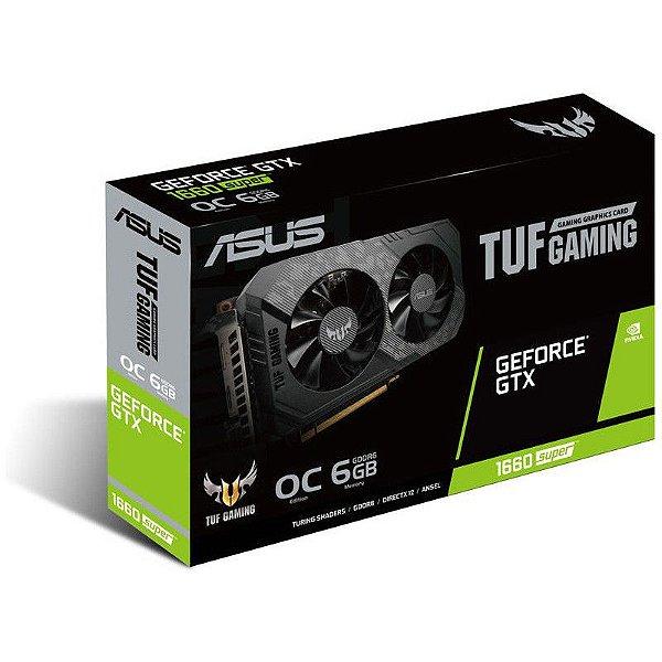Placa de Vídeo GPU GEFORCE GTX 1660 SUPER 6GB GDDR6 - 192 BITS ASUS TUF GAMING - 90YV0DT2-M0NA00