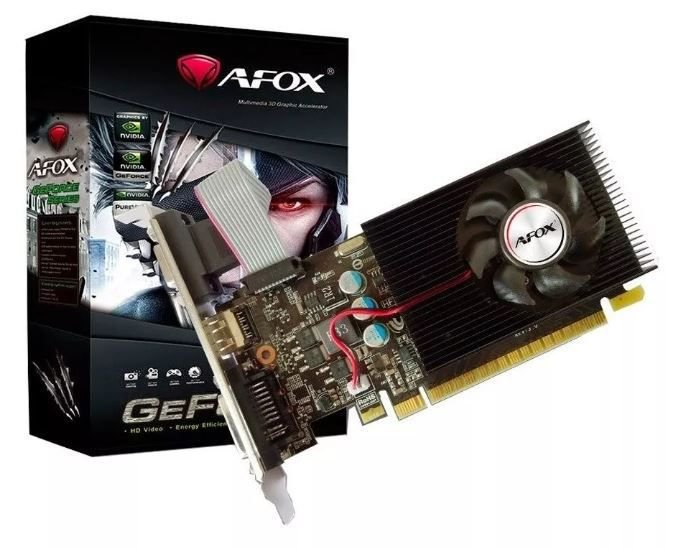 Placa de Vídeo GPU NVIDIA GEFORCE GT 610 2GB DDR3 - 64 BITS LP AFOX - AF610-2048D3L5