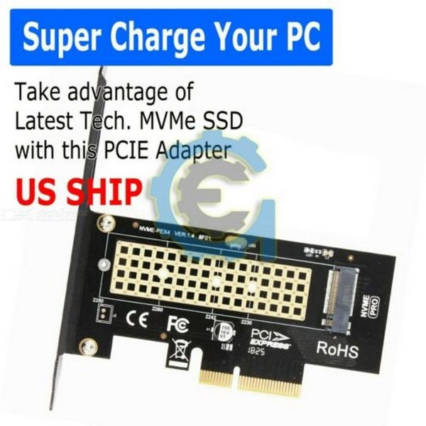 Adaptador M.2 NGFF Para Pcie De Mesa X4 X8 X16 Nvme SATA Placa SSD PCI Express Dual Adapter
