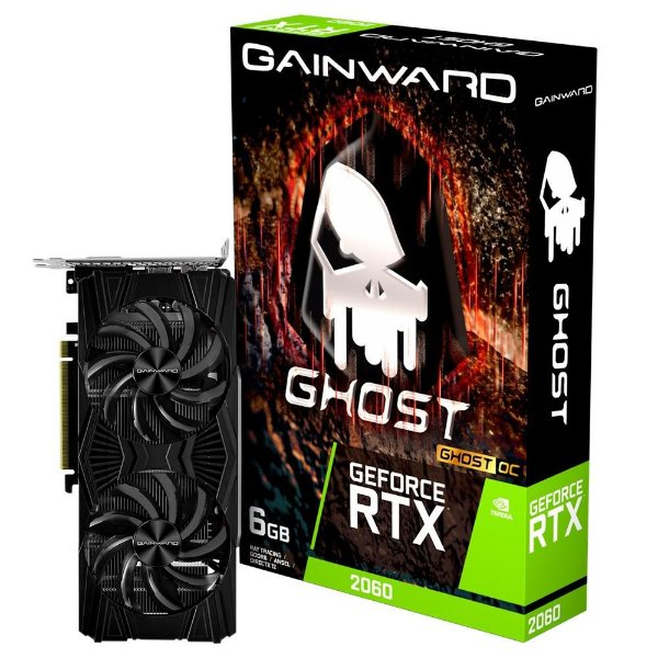 Placa de Vídeo GPU GEFORCE RTX 2060 GHOST 6GB GDDR6 192 Bits GAINWARD NE62060S18J9-1160X