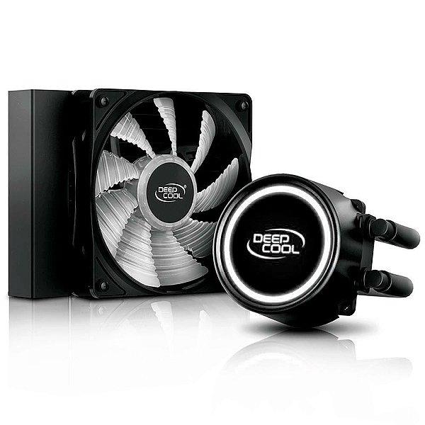WaterCooler DeepCool Gammaxx L120T White, 120mm, LED Branco - GAMMAXX L120T WHITE