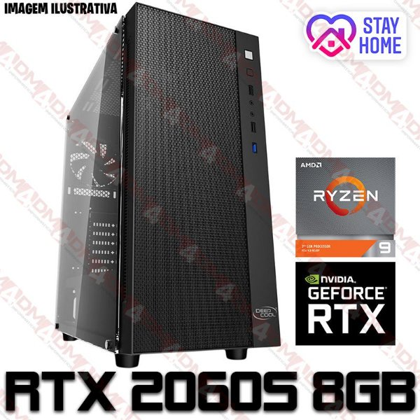 PC Gamer AMD Ryzen 9 3900X, 16GB DDR4, SSD 500GB, GPU GEFORCE RTX 2060 SUPER 8GB