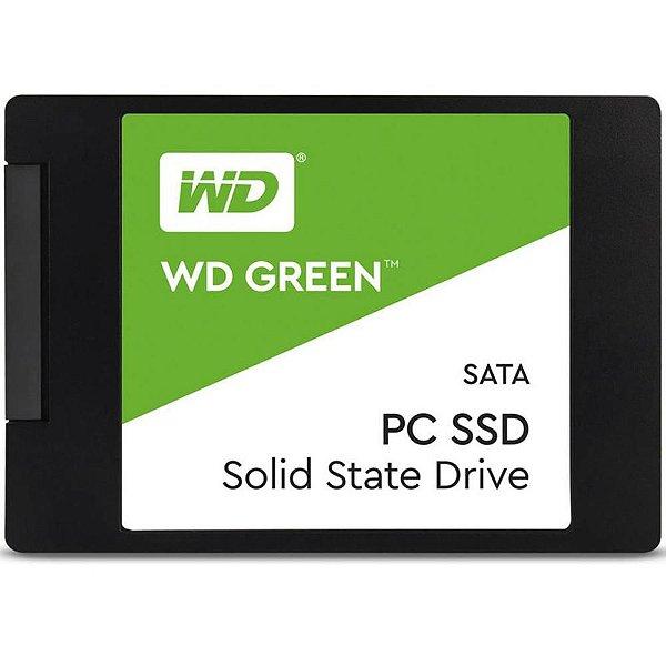 SSD Western Digital Green, 480GB, SATA, Leitura 545MB/s, Gravação 430MB/s - WDS480G2G0A
