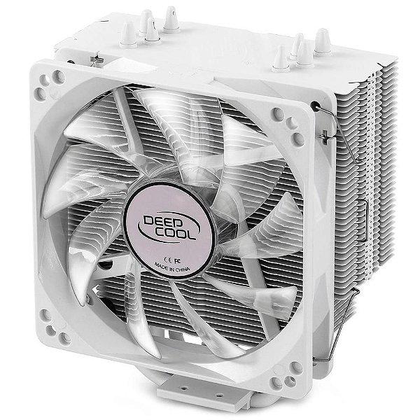 Cooler para Processador DeepCool Intel/AMD GAMMAXX 400 Silente 120mm PWM Fan With White Led Light - DP-MCH4-GMX400WH