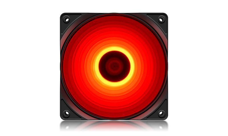 Cooler FAN Deepcool RF120R, 120mm, LED Vermelho - DP-FLED-RF120-RD