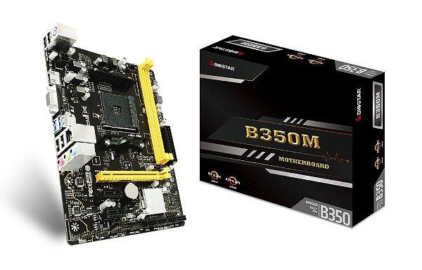 Placa Mãe BIOSTAR CHIPSET AMD B350M SOCKET AM4