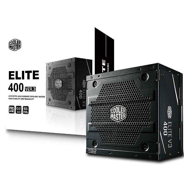 Fonte Cooler Master 400W Elite V3 - MPW-4001-ACAAN1