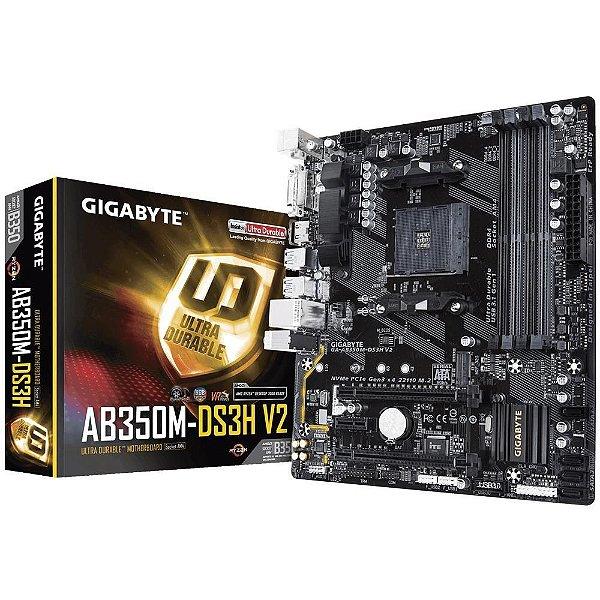 Placa Mãe GIGABYTE CHIPSET AMD AB350M-DS3H V2 SOCKET AM4