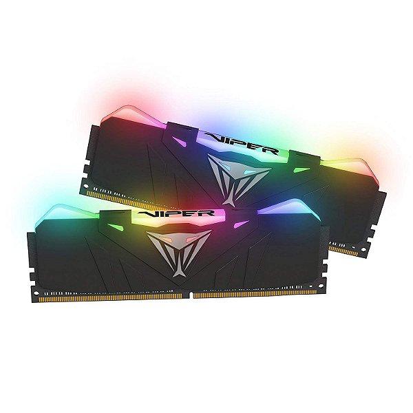 Memória 32GB DDR4 CL17 3600 Mhz PATRIOT VIPER GAMING RGB -PVR432G360C7K (2X16GB)