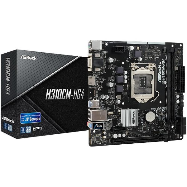 Placa Mãe ASROCK CHIPSET INTEL H310CM-HG4 SOCKET LGA 1151
