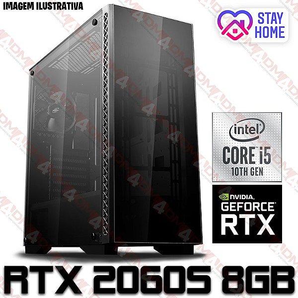 PC Gamer Intel Core i5 Comet Lake 10400F, 16GB DDR4, SSD 240GB, HD 1TB, GPU GEFORCE RTX 2060 SUPER 8GB