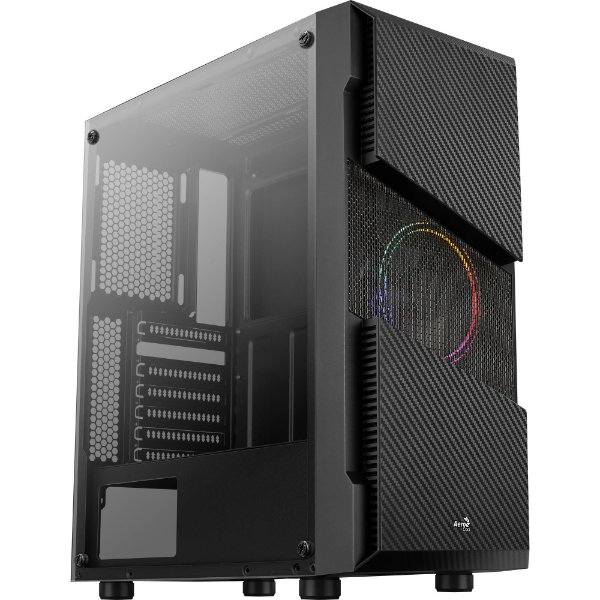 Gabinete ATX Gamer C/ Tampa Lateral em Vidro, USB 3.0 Frontal, Cooler RGB - AEROCOOL MENACE SATURN