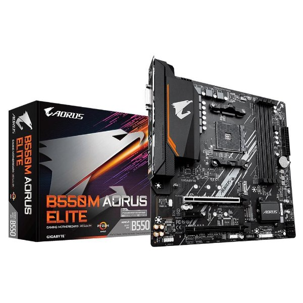 Placa Mãe GIGABYTE CHIPSET AMD B550M AORUS ELITE SOCKET AM4