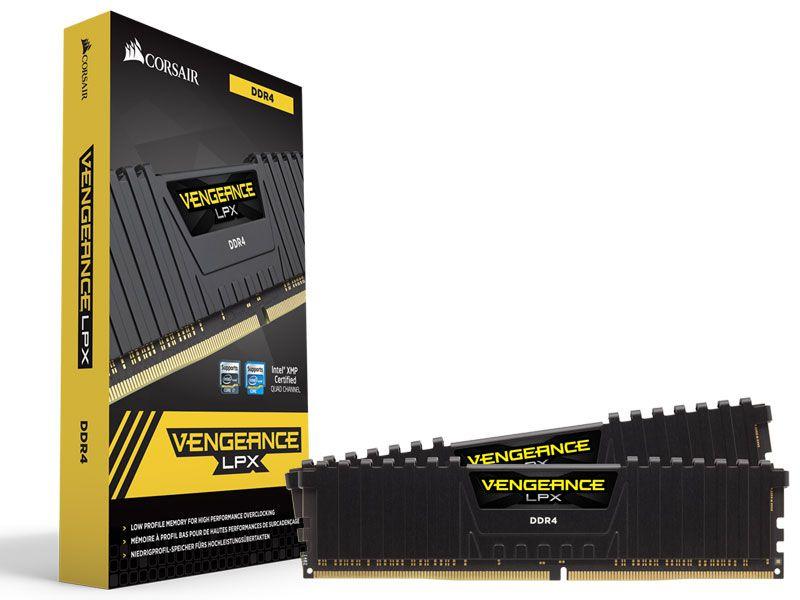 Memória 16gb DDR4 CL20 - 3600 MHZ CORSAIR Vengeance LPX (2X8gb) CMK16GX4M2C3600C20 Black