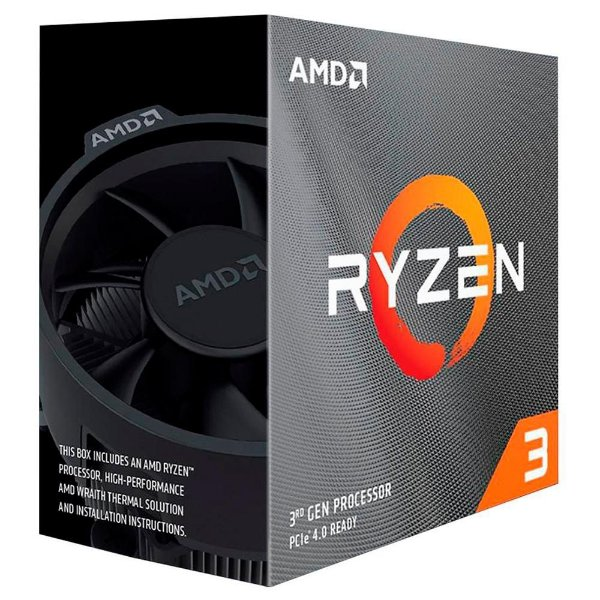 Processador AMD Ryzen 3 3100 - 3.6 GHZ (3.9 Ghz Max Turbo) 18MB Cache QUADCORE - 100-100000284BOX AM4