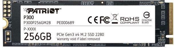 SSD M.2 NVME PCI-E 256GB GEN 3X4 M.2 2280 - PATRIOT P300 - P300P256GM28