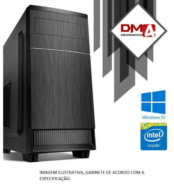 Computador Home Office Intel Core i3 Ivy Bridge 3220, 8GB DDR3, SSD 240GB, DVD 24X