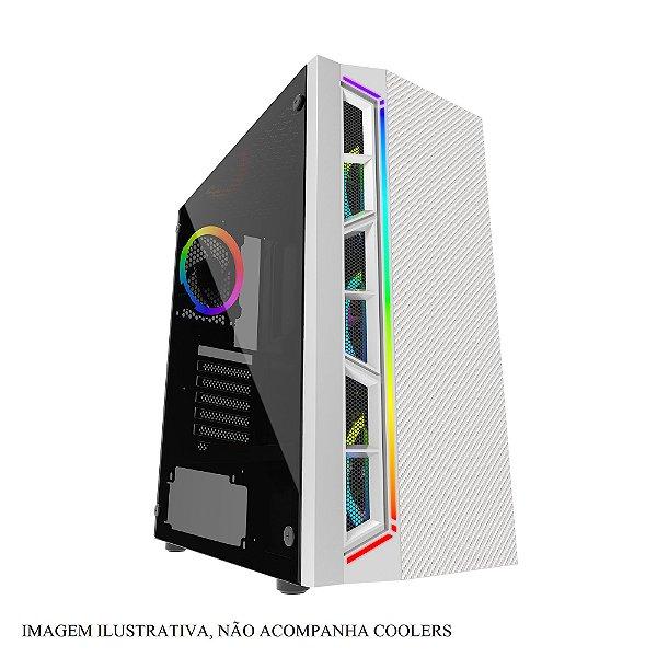 Gabinete ATX Gamer C/ Tampa Lateral em Vidro, USB 3.0 Frontal, Iluminação RGB - BLUECASE BG-033W