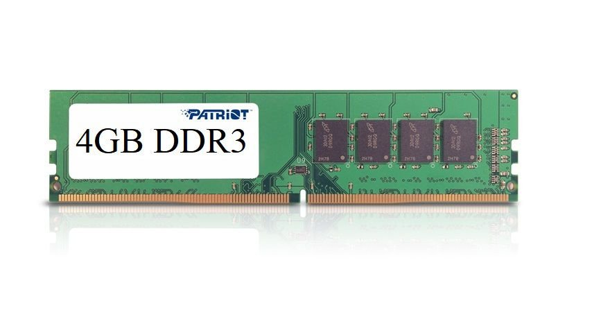 Memória RAM P/ Desktop 4GB DDR3 CL11 1600 MHZ PATRIOT VALUE - PSD34G16002 (1X4GB)
