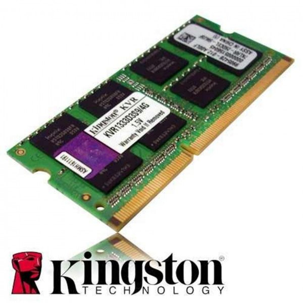 Memória Kingston 4GB 1333MHz p/ Notebook PC3-10600 KVR13S9S84