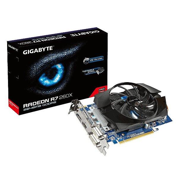 Placa de Vídeo ATI Radeon R7 260X - 2gb DDR5 - 128 Bits Gigabyte R726XOC-2GD Rev 3.0