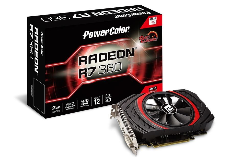 Placa de Vídeo ATI Radeon R7 360 - 2gb DDR5 - 128 Bits Power Color