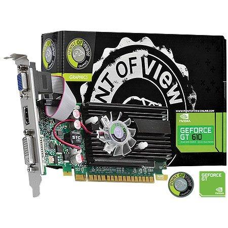 Placa de Vídeo Geforce GT 610 - 2gb DDR3 - 64 Bits Point Of View VGA-610-C5-2048
