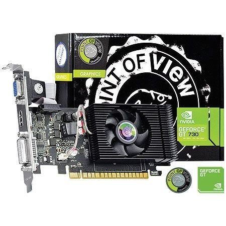 Placa de Vídeo Geforce GT 730 - 4gb DDR3 - 128 Bits Point of View VGA-730-C5-4096