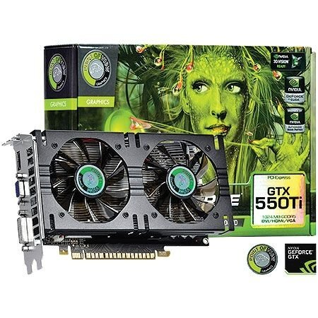 Placa de Vídeo Geforce GTX 550TI - 2gb DDR5 - 192 Bits Point Of View VGA-550-A1-1024