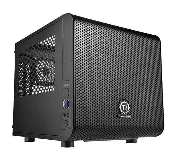 Gabinete Mini ITX Thermaltake Core V1 Black C/ Acrílico e USB 3.0