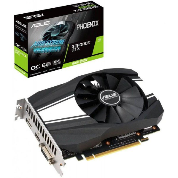 Placa de Vídeo Geforce GTX 1660 SUPER OC 6GB GDDR6 - 192 BITS ASUS PHOENIX PH-GTX1660S-O6G
