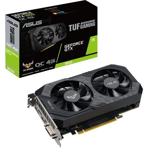Placa de Vídeo Geforce TUF GTX 1650 OC 4GB GDDR6 - 128 Bits ASUS TUF-GTX1650-O4GD6-P-GAMING