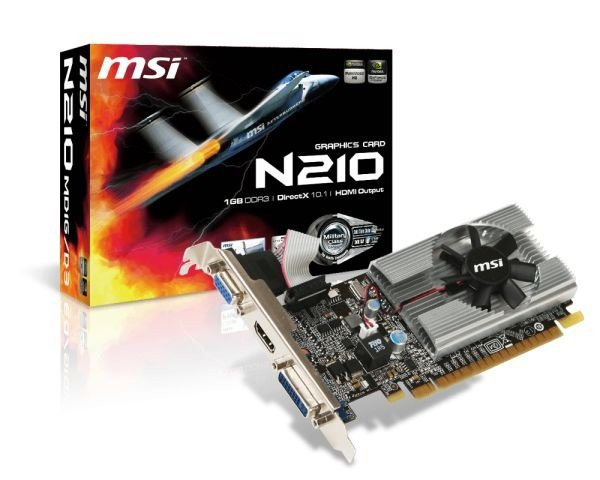 Placa de Vídeo Geforce GT 210 - 1gb DDR3 - 64 Bits MSI N210-MD1G/D3