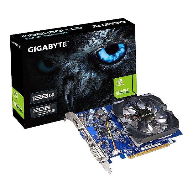 Placa de Vídeo Geforce GT 420 - 2gb DDR3 - 128 Bits Gigabyte  GV-N420-2GI REV 3.0