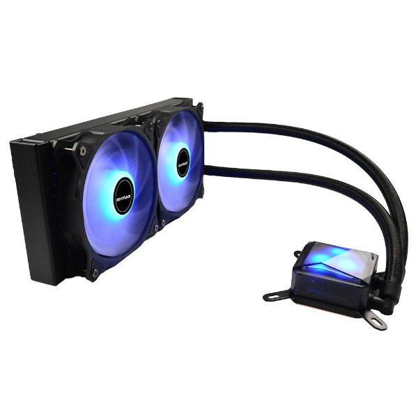 Water Cooler 240MM Compatível com Processadores Intel e AMD Mymax Algor LED Blue