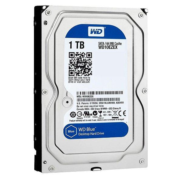 HD 1 Tera Sata 6gbs 7200 Rpm Wester Digital Edição Blue - WD10EZEX-00BN5A0