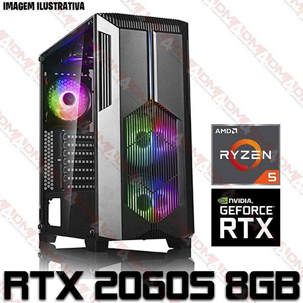 (SUPER OFERTA BLACK FRIDAY) PC Gamer AMD Ryzen 5 5600X, 16GB DDR4, SSD M.2 NVME 512GB, HD 1 Tera, GPU GEFORCE RTX 2060 SUPER 8GB