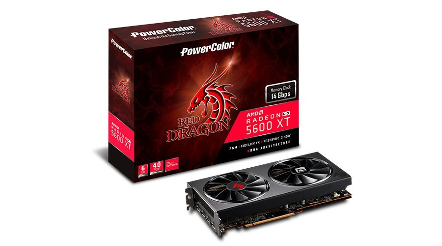 Placa de Vídeo GPU AMD RADEON RX 5600XT 6GB GDDR6 192 BITS POWER COLOR 6GBD6-3DHR/OC