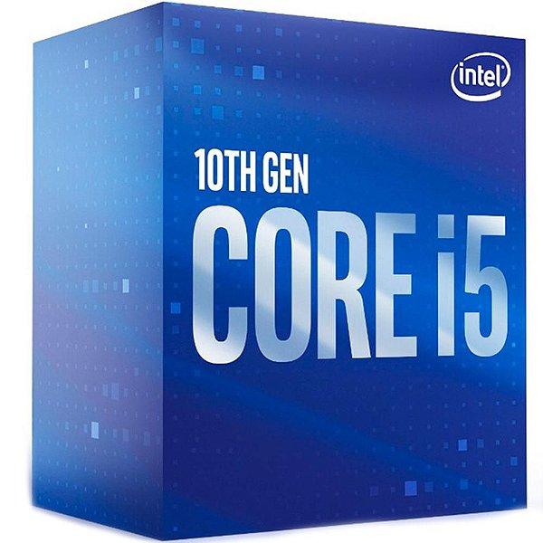Processador Intel Core i5 Comet Lake 10400, Cache 12MB, 2.9GHz (4.3GHz Max Turbo), C/  Intel UHD Graphics 630, LGA 1200 - BX8070110400