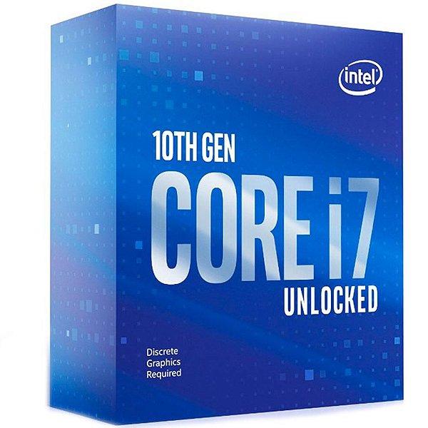 Processador Intel Core i7-10700KF, Cache 16MB, 3.8GHz (5.1GHz Max Turbo), LGA 1200 - BX8070110700KF
