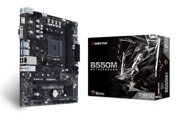 Placa Mãe BIOSTAR CHIPSET AMD B550MH SOCKET AM4