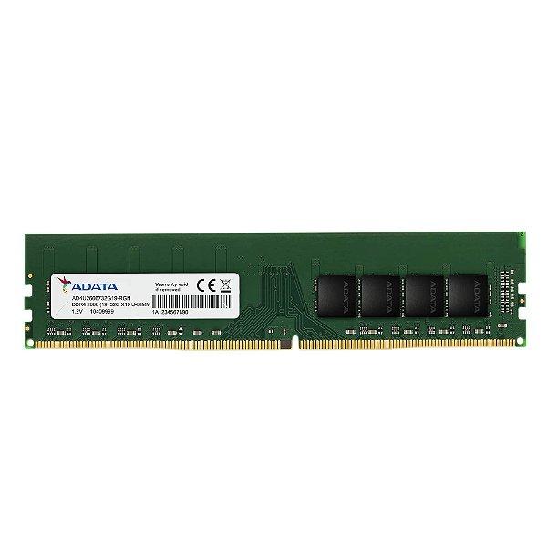 Memória Ram P/ Desktop 8GB DDR4 CL19 2666 Mhz ADATA VALUE - AD4U2666W8G19-S (1X8GB)