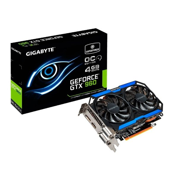 Placa de Vídeo Geforce GTX 960 OC Guru II 4gb DDR5 - 128 Bits Gigabyte WindForce