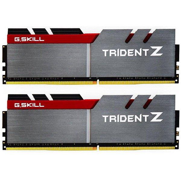 Memória Ram P/ Desktop 16GB DDR4 CL15 2800 Mhz (2X8GB) G.SKILL TRIDENT Z - F4-2800C15D-16GTZB