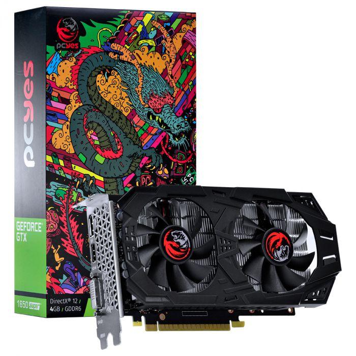 Placa de Vídeo Geforce GTX 1650 SUPER 4GB GDDR6 - 128 Bits PCYES - PA16504DR6128FS