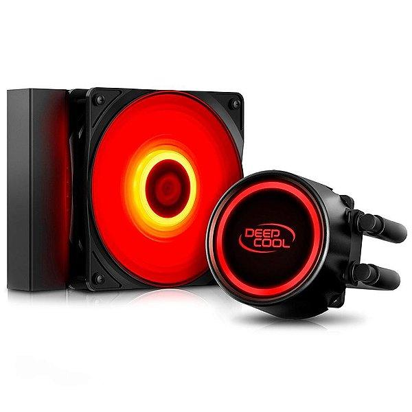 Water Cooler Deepcool Gammaxx L120T, 120mm, LED Vermelho - DP-H12RF-GL120TR